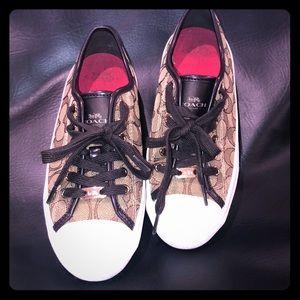 Authentic Coach Low Top Monogram Tennis Shoes!